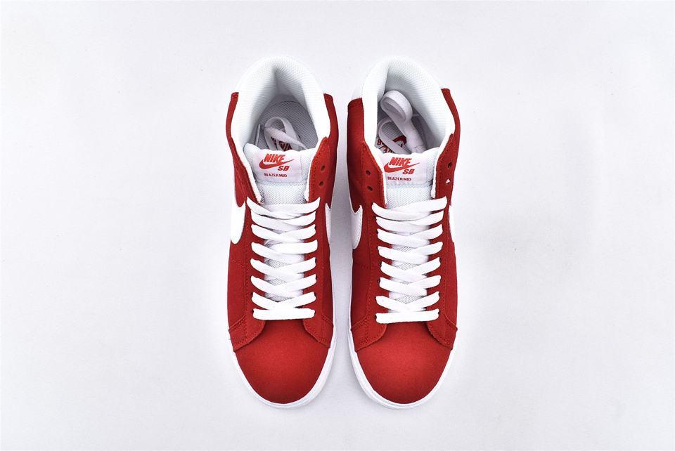 Nike SB Blazer Mid Red Suede 2017 6
