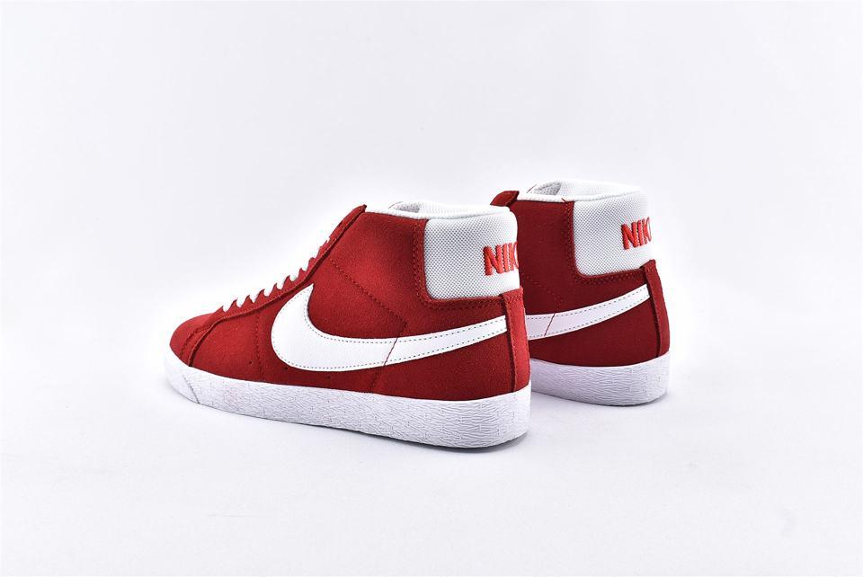 Nike SB Blazer Mid Red Suede 2017 9