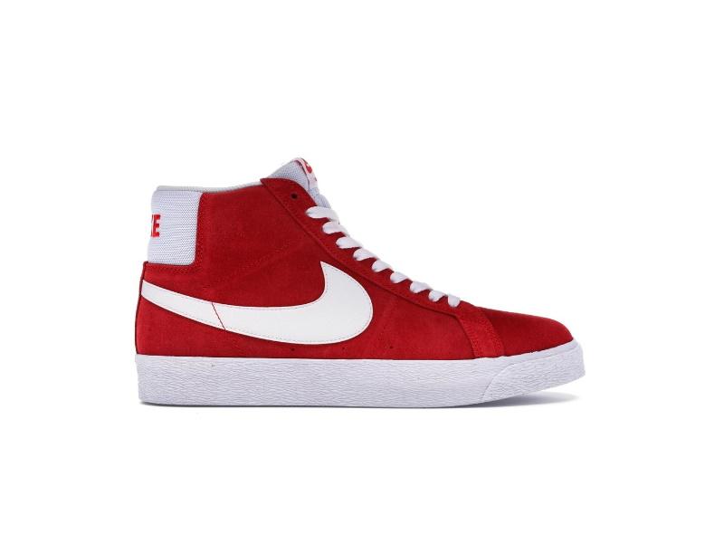 Nike SB Blazer Mid Red Suede 2017