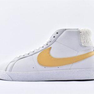 Nike SB Zoom Blazer Mid White Celestial Gold 1
