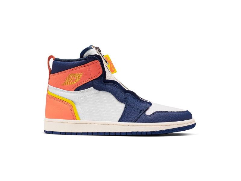 Nike Wmns Air Jordan 1 High Zip Blue Void Citron