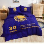 Postelnoe belyo Golden State Warriors Curry 30 Blue 2