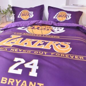Postelnoe belyo Los Angeles Lakers Bryant 24 Purple 1