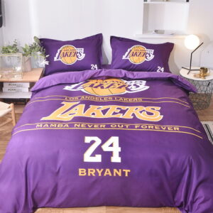 Postelnoe belyo Los Angeles Lakers Bryant 24 Purple