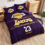 Postelnoe belyo Los Angeles Lakers James Lebron 23 Purple
