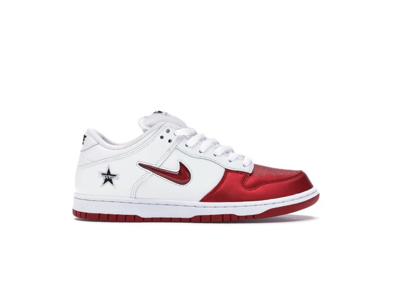 Supreme x Nike Dunk SB Low Varsity Red