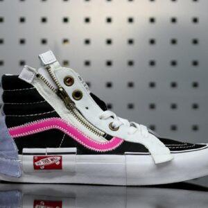 Vans Sk8 Hi Cap Black Azalea Pink 1