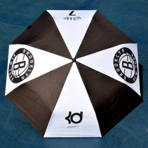 Zont NBA Brooklyn Nets 7 Black White Umbrella