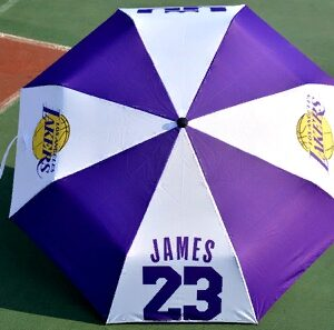 Zont NBA Los Angeles Lakers 23 Purple White Umbrella