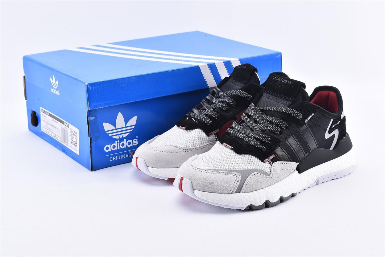 adidas Nite Jogger 3M Core Black Crystal White 10
