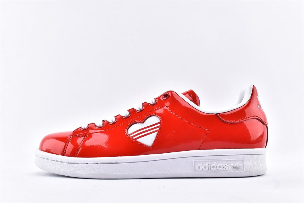 adidas Stan Smith Valentines Day 2019 Red W 1