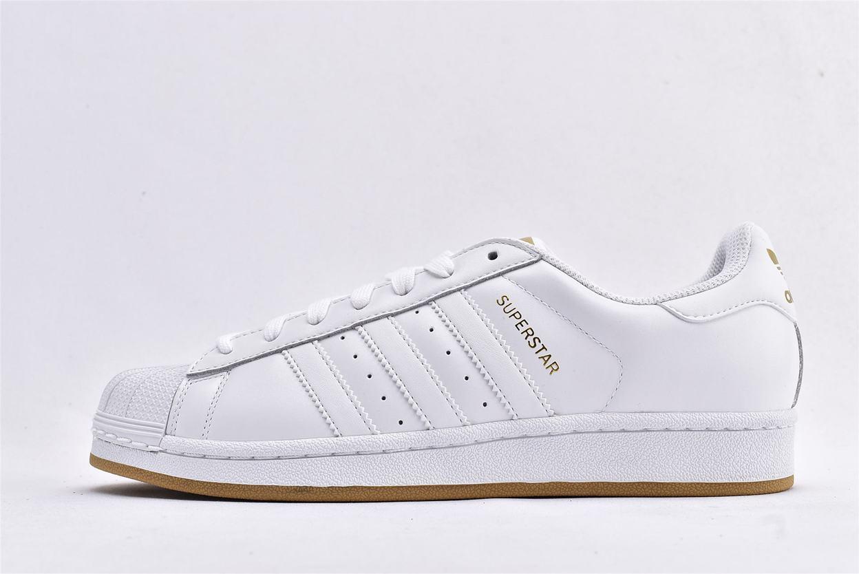 adidas Superstar Running White Gold 1