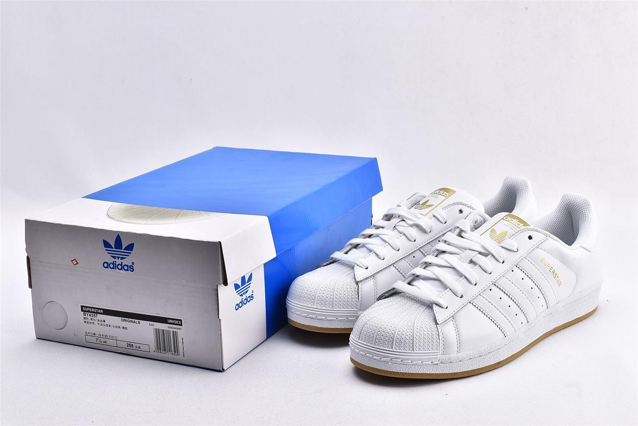 adidas Superstar Running White Gold 10