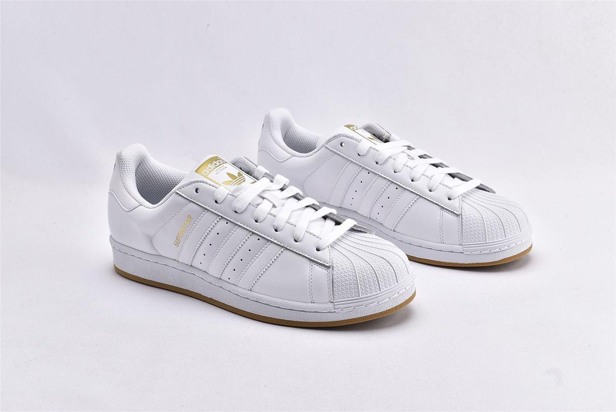 adidas Superstar Running White Gold 2