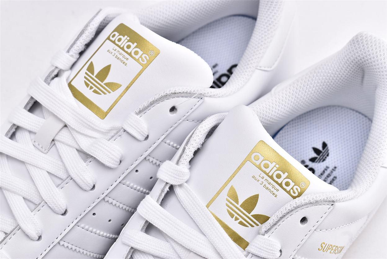 adidas Superstar Running White Gold 4