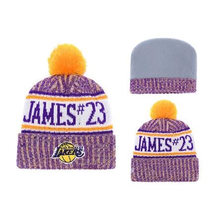 2019 Los Angeles Lakers Purple Yellow Hat