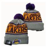 2019 New Era NBA LA Lakers Grey Yellow Hat