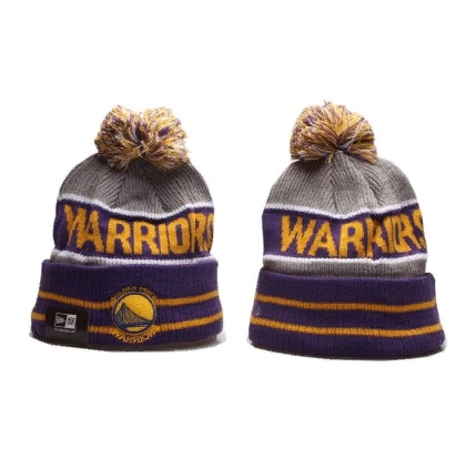 2019 New Era NBA Warriors Purple Hat