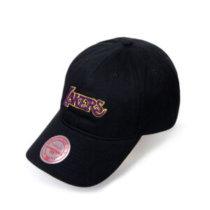 2020 AAPE x Mitchell Ness Lakers Black Cap