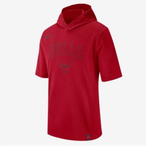 2020 Nike Mens NBA Bulls Hooded T Shirt 1