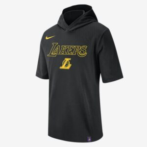 2020 Nike Mens NBA LA Lakers Hooded T Shirt 1