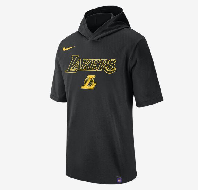2020 Nike Mens NBA LA Lakers Hooded T Shirt 1