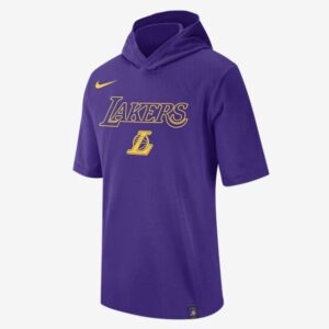 2020 Nike Mens NBA LA Lakers Hooded T Shirt