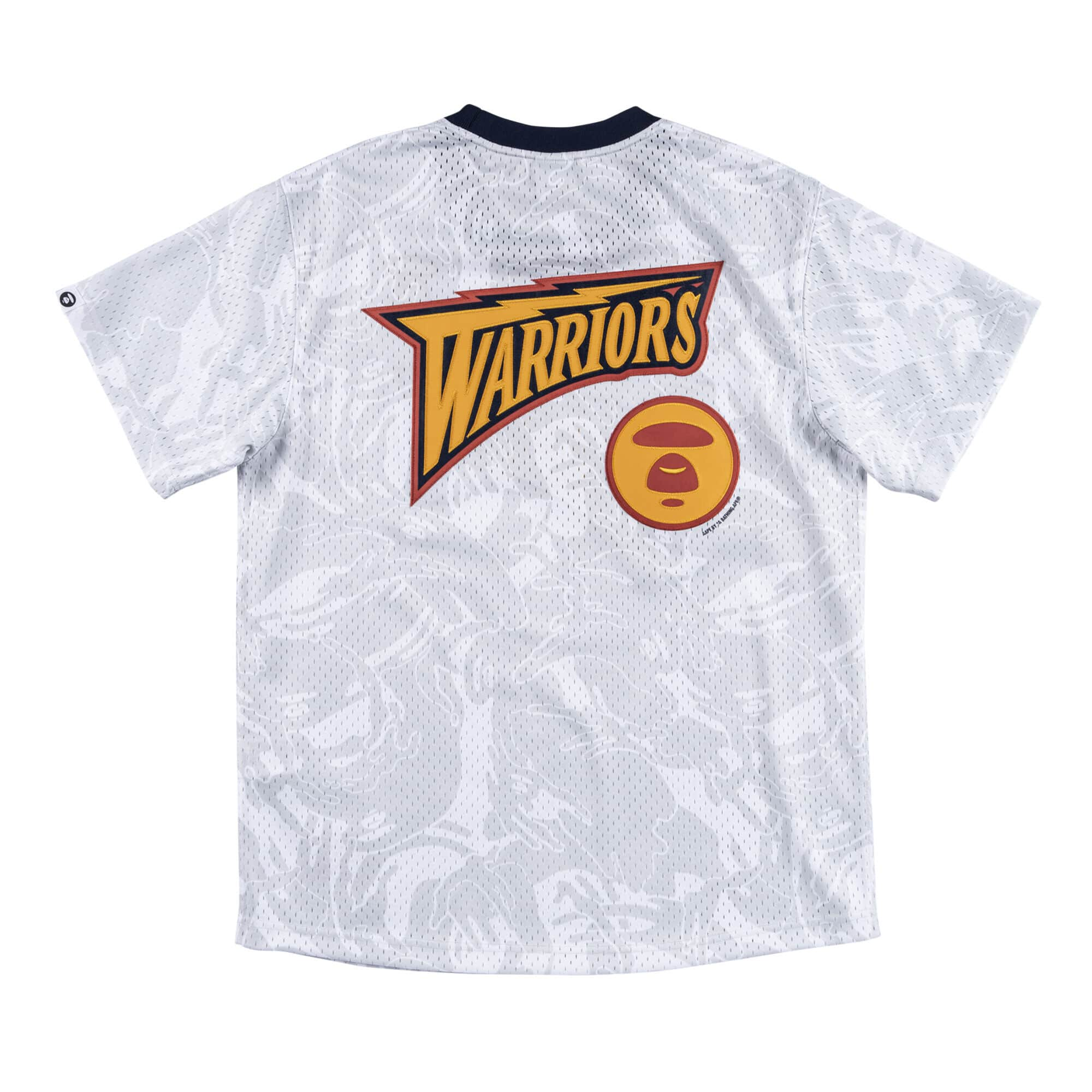 Aape x Mitchell Ness Golden State Warriors BP Jersey White 1