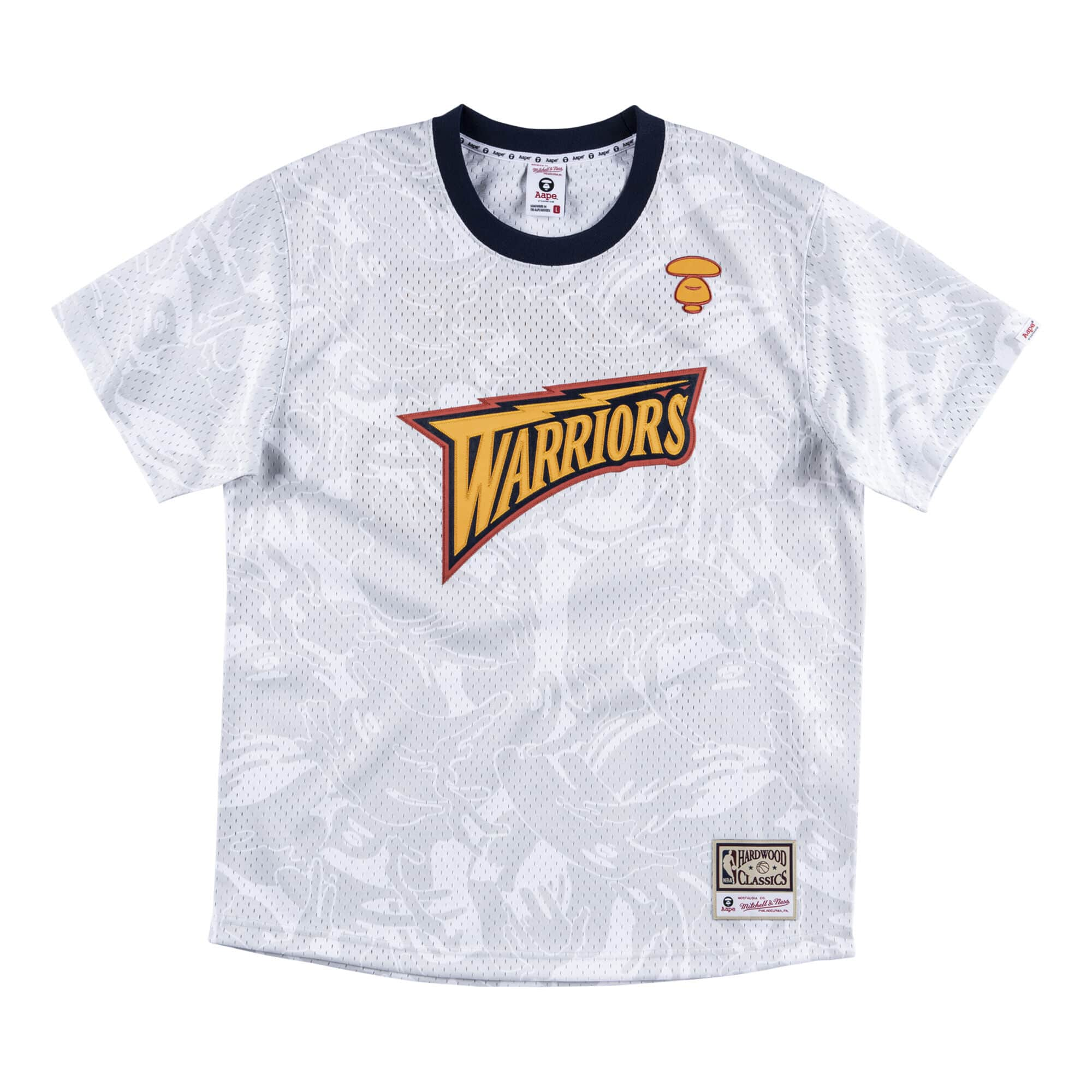 Aape x Mitchell Ness Golden State Warriors BP Jersey White