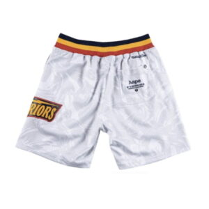 Aape x Mitchell Ness Golden State Warriors Shorts White 1