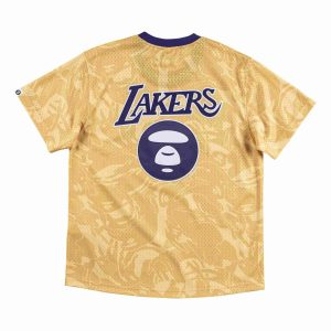 Aape x Mitchell Ness Los Angeles Lakers BP Jersey Gold