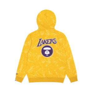 Aape x Mitchell Ness Los Angeles Lakers Hoodie Yellow 1