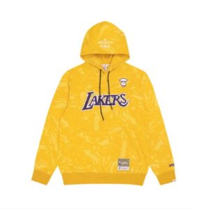Aape x Mitchell Ness Los Angeles Lakers Hoodie Yellow