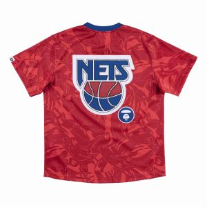 Aape x Mitchell Ness New Jersey Nets BP Jersey Red 1