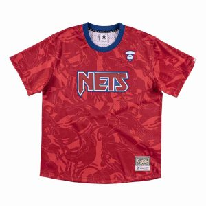Aape x Mitchell Ness New Jersey Nets BP Jersey Red