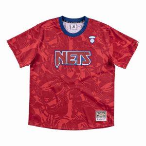 Aape x Mitchell Ness New Jersey Nets BP Jersey Red