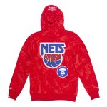Aape x Mitchell Ness New Jersey Nets Hoodie Red 1