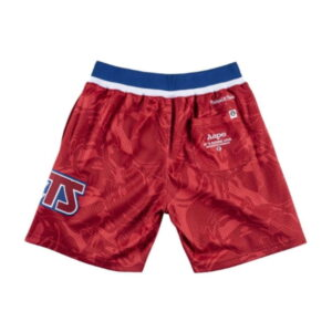 Aape x Mitchell Ness New Jersey Nets Shorts Red 1