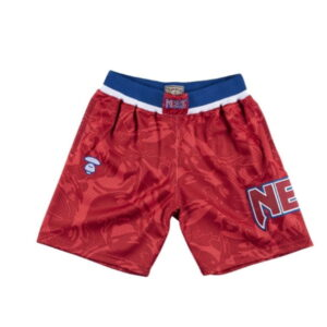 Aape x Mitchell Ness New Jersey Nets Shorts Red