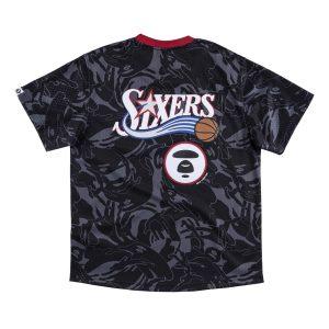 Aape x Mitchell Ness Philadelphia 76ers BP Jersey Black 1