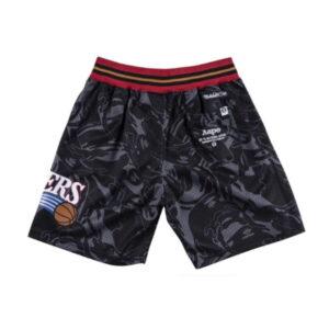 Aape x Mitchell Ness Philadelphia 76ers Shorts Black 1