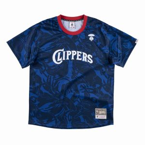 Aape x Mitchell Ness San Diego Clippers BP Jersey Navy