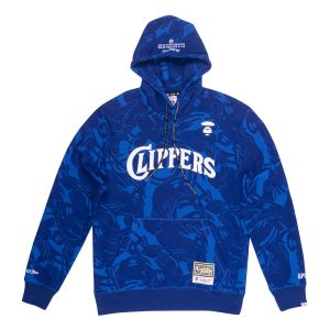 Aape x Mitchell Ness San Diego Clippers Hoodie Navy