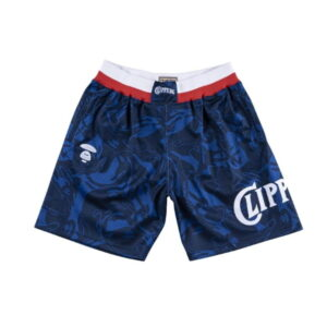 Aape x Mitchell Ness San Diego Clippers Shorts Navy 2