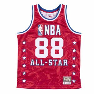 Aape x Mitchell Ness Swingman All Star 1988 Jersey Red