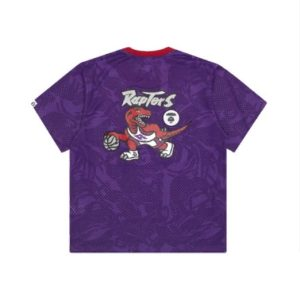 Aape x Mitchell Ness Toronto Raptors BP Jersey Purple 1