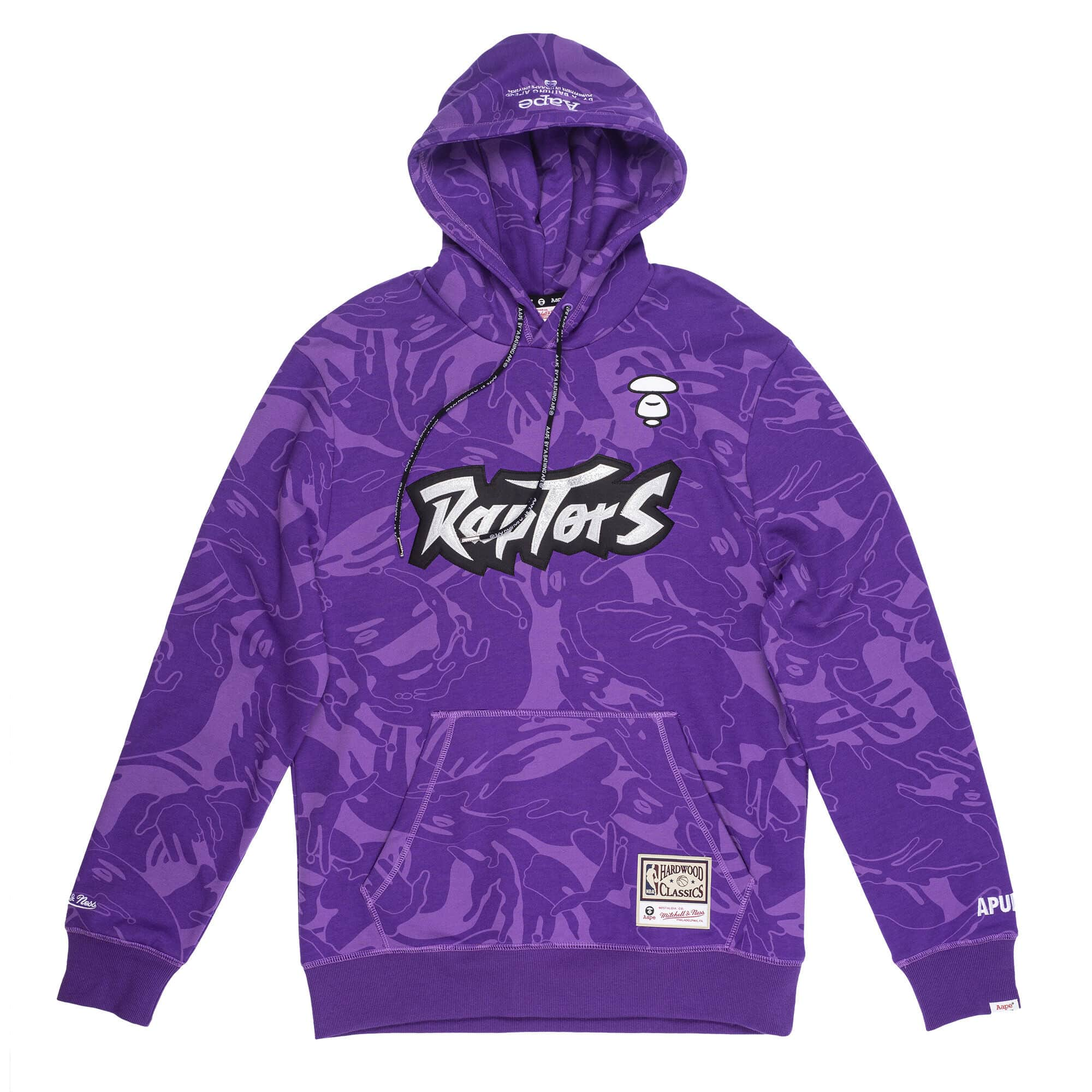 Aape x Mitchell Ness Toronto Raptors Hoodie Purple