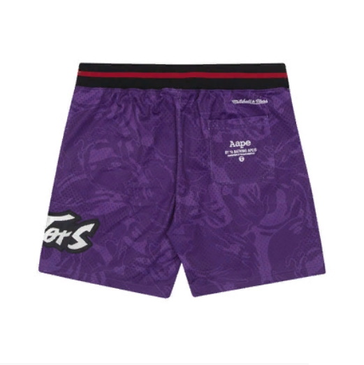 Aape x Mitchell Ness Toronto Raptors Shorts Purple 1