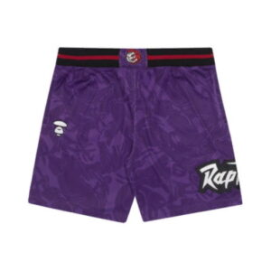 Aape x Mitchell Ness Toronto Raptors Shorts Purple