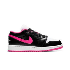 Air Jordan 1 Low GS Black Hyper Pink